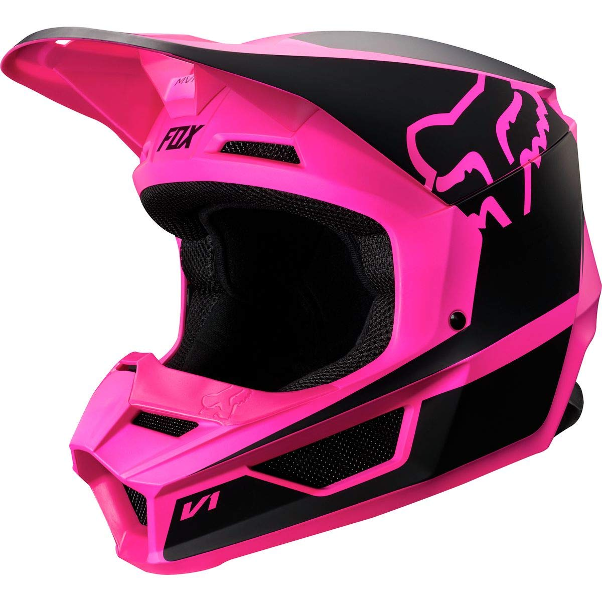 Fox Racing 2019 V1 Helmet - Przm (X-Small) (Black/Pink) by Fox Racing