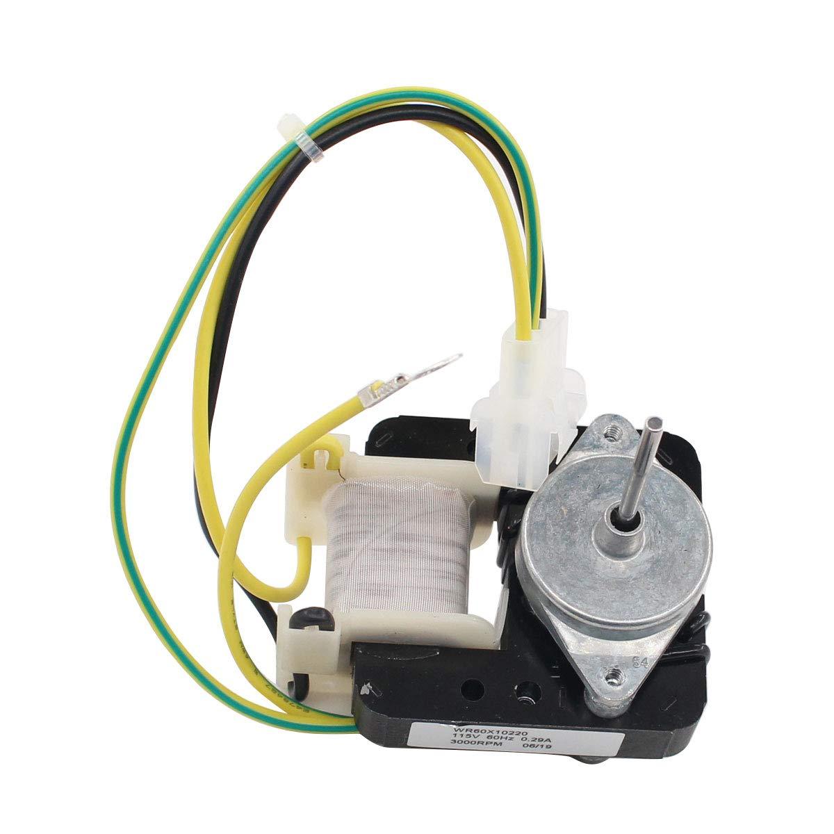 ApplianPar WR60X10220 Refrigerator Condenser Compressor Fan Motor for General Electric GE Repalce 1257132, AP4298602, PS1766247, WR60X10133, WR60X10171