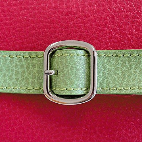 Tasche Schulter Amelie Leder Herstellung Luxe Französische Rot - Rot O0inA0L8J0