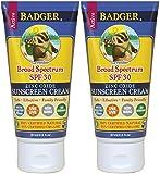 Badger Balm Lavender Sunscreen Cream- SPF 30-2.9 oz (2 Pack) For Sale