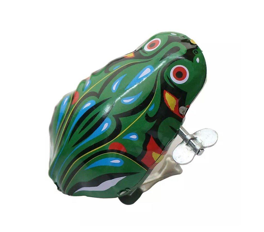 2 PCS Funny Dark & Green Clockwork Spring Wind Up Metal Jumping Frog Toy Gift for Kids Children SHENGDATONG