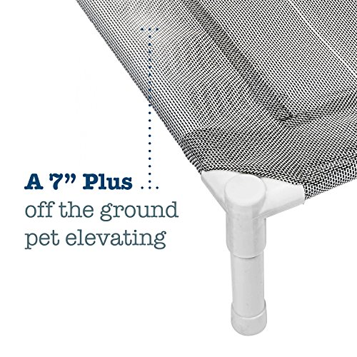Elevated Cooling Dog Bed, Knitted Fabric Pet Cot, Portable (Large) by Animals Favorite (Image #2)