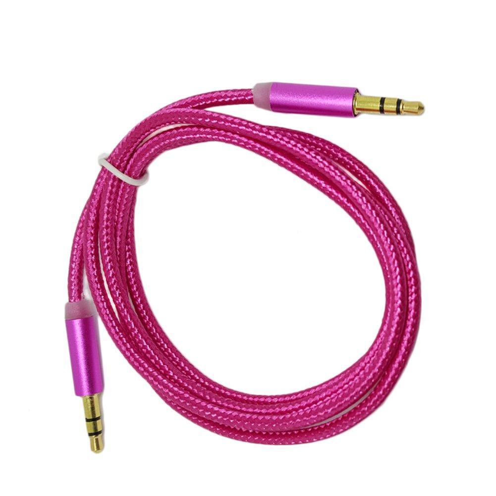 Sistema de Altavoces ecabo 10004 Cable Auxiliar Audio Est/éreo HiFi Jack 3,5mm Macho para conectar su iPhone iPod Smartphone /ó MP3 a la Radio del Coche Auriculares u Otro Dispositivo // 1m Negro