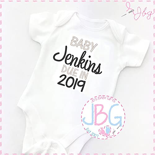 New arrival Clothes Bodysuit Personalised Baby Unisex vest Embroidered Design