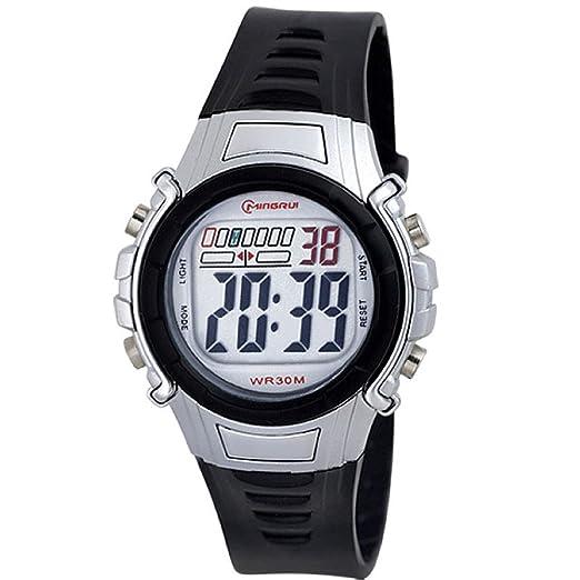 kpv MKG multifunción reloj electrónico/Señor Mujer Relojes/grandes Reloj digital deportivo impermeable Luz de d: Amazon.es: Relojes