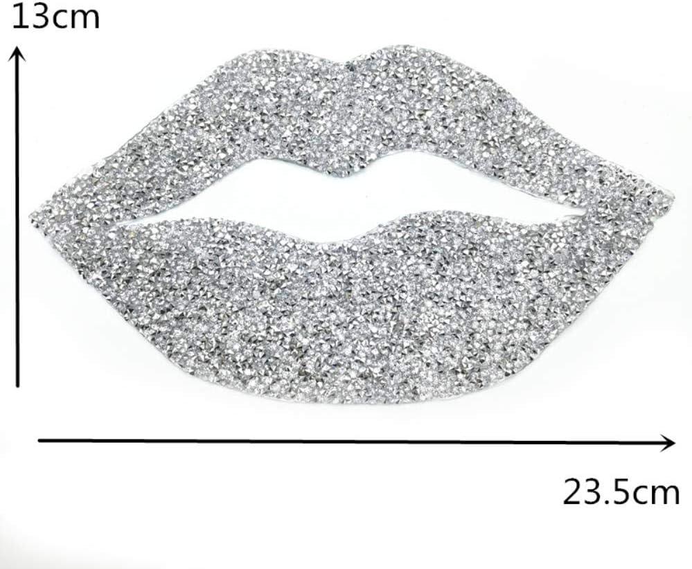 Parche de diamantes de imitaci/ón para pegar con plancha o con los labios para ropa blanco