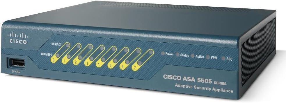 Cisco ASA 5505 Series V05 PoE Adaptive Security Appliance Firewall VPN Router
