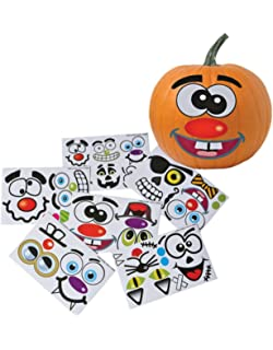 Make Your Own Jack O Lantern Halloween Sticker Set