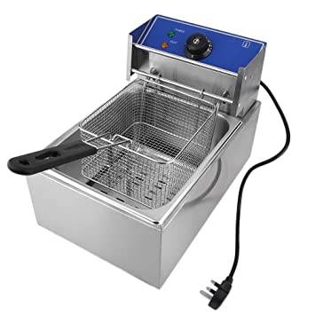 iCoco 6 L, acero inoxidable - Freidora eléctrica con tapa extraíble Control de Temperatura Aero Fryer 2500 W Fácil de Limpiar Plata: Amazon.es: Hogar