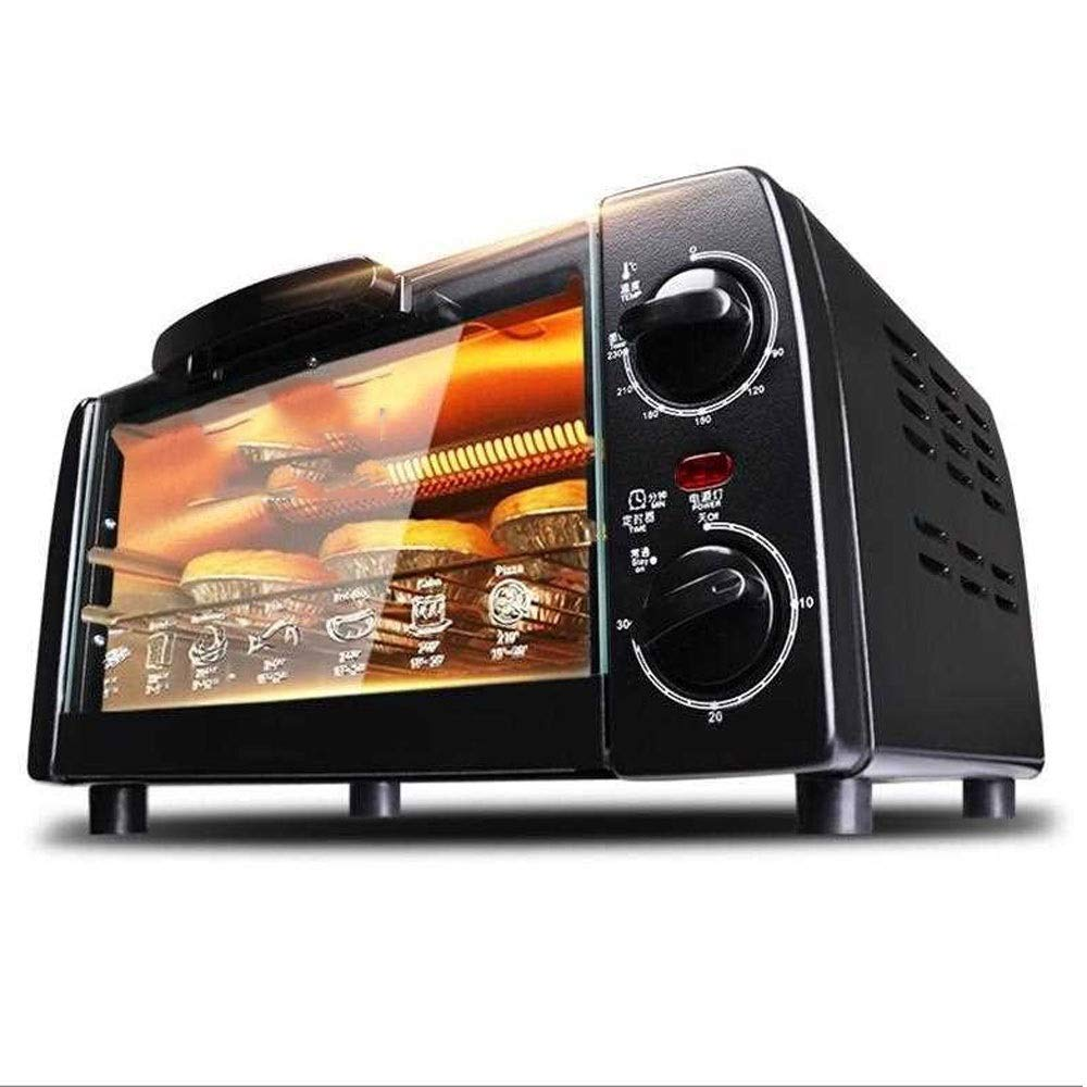 ZOUQILAI Double Layer Multi-function Oven, Countertop Oven Set, Convection Oven Toaster 700 Watt, Stainless Steel,10L