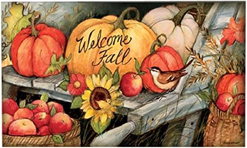 Magnet Works Welcome Fall Pumpkins MatMates Doormat 11224