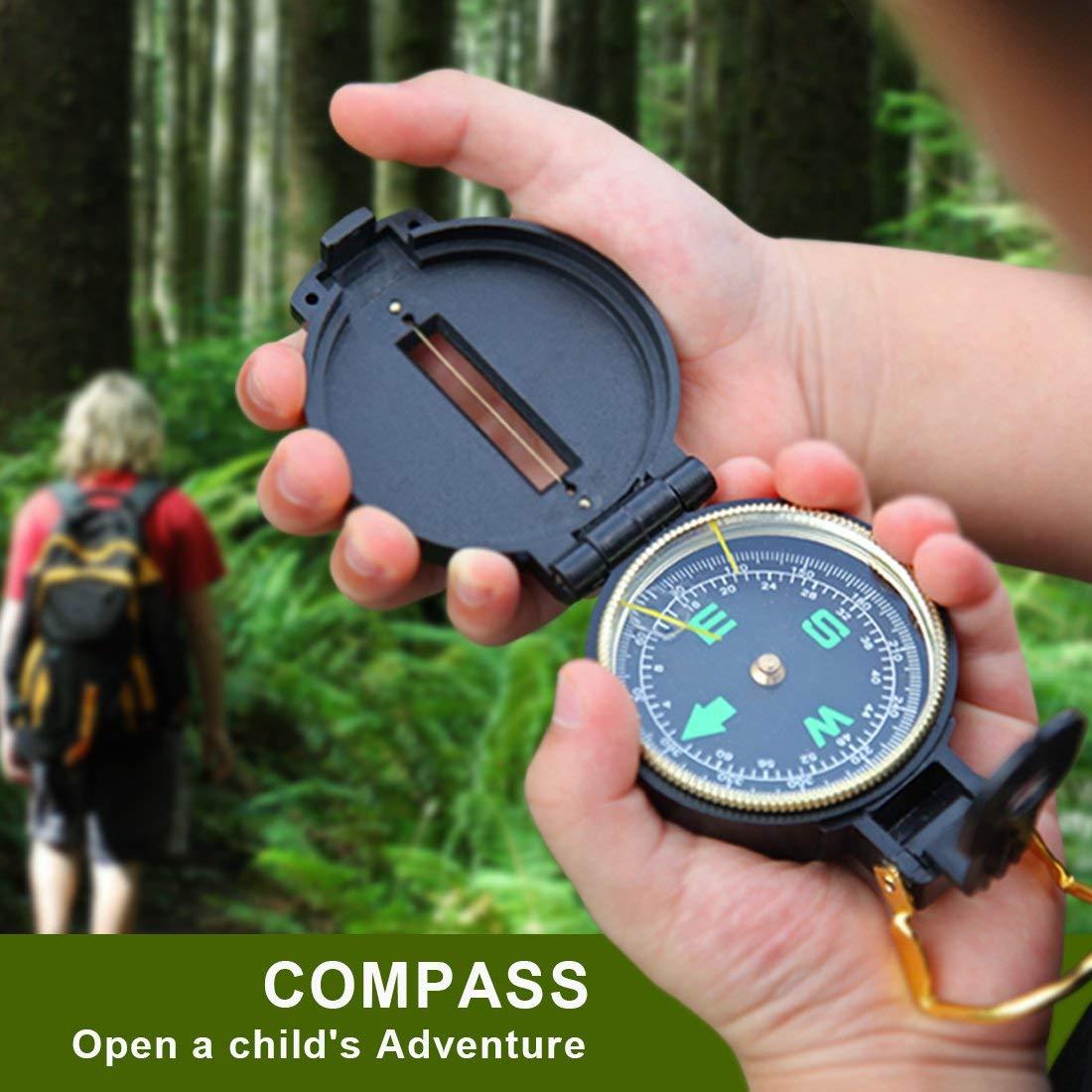 Kids Binoculars Toy Set Compass,Magnifying Glass,Best Gifts For Birthday Educational Outdoor Explorer Kit for Kids Kids Adventure Kit- Outdoor Exploration Kit Camping,Toys Binocular,Flashlight