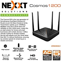 Nexxt Cosmos1200 Simultaneous Dual-Band Wireless AC Router 1200Mbps 4 ports 10/100