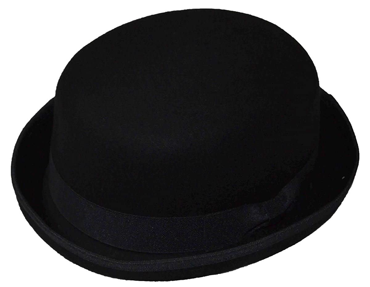K Men's Wool Felt Derby Hat Black