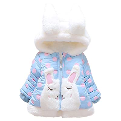 amazingdeal Korean Winter Baby Kids Girl Fleece Thicken Long Sleeve Cotton-Padded Coat