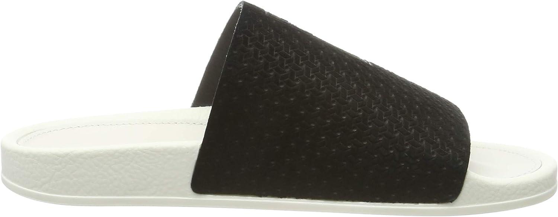 adidas Adilette Luxe W, Zapatos de Playa y Piscina para Mujer Negro Core Black Core Black Off White Core Black Core Black Off White