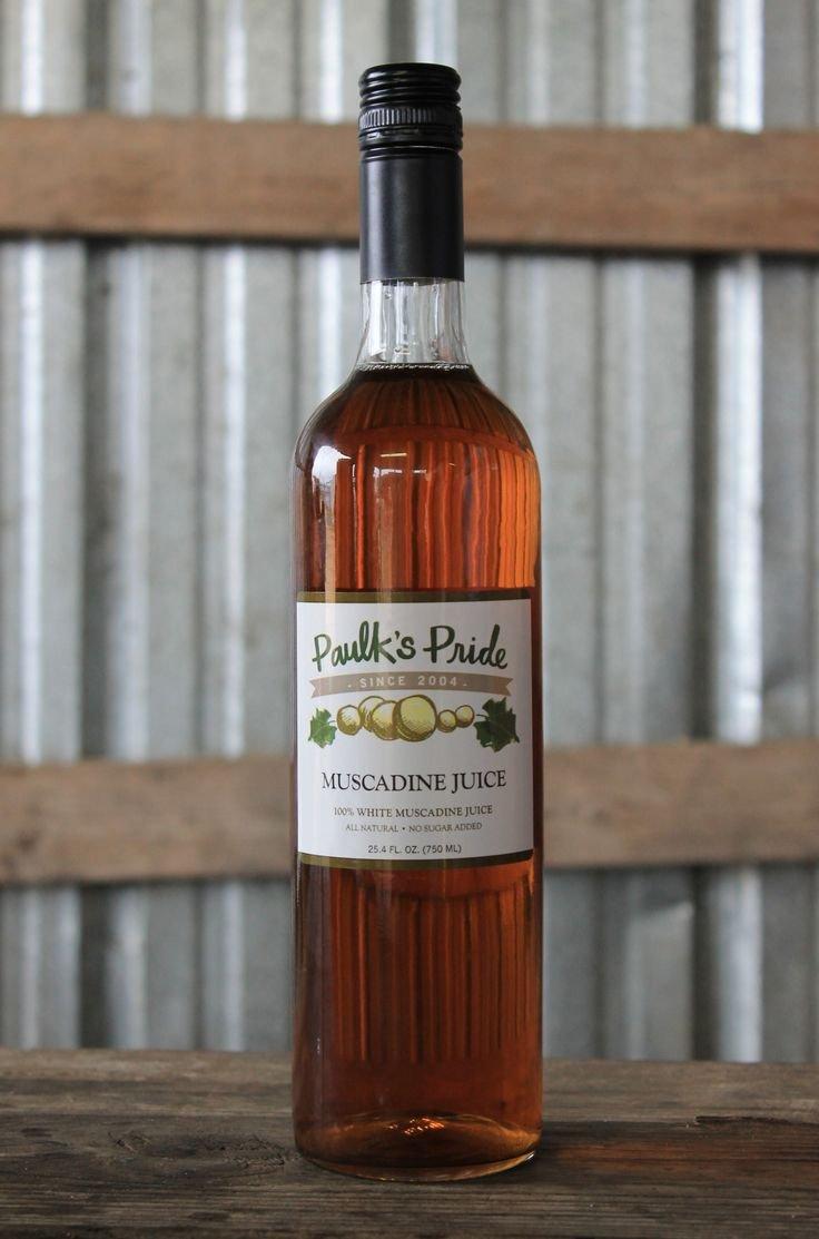 Paulk's Pride Muscadine White Juice