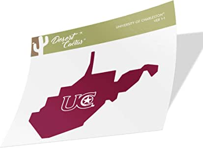 State Boarder Sticker College of Charleston C of C Cougars NCAA Vinyl Decal Laptop Water Bottle Car Scrapbook