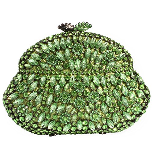 Evening Green Digabi Handbags Beautiful Rose Crystal Bags Women Clutch wvqXBA8Zn