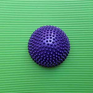 Yoga Foot Half Round Massage Ball Workout at Home, PVC Pod Cushion Spiky Balance Ball,Balance Exercise Fitness Hemisphere Ball for Adult Children