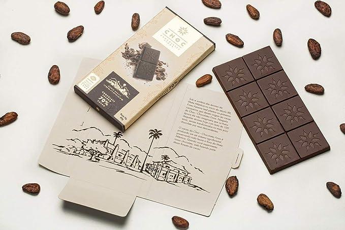 Chocolate 70% Cacau - 80g - Choc Zero Açúcar - Choc Chocolates Finos por Choc