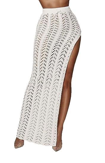 Faldas Mujer Largos Slim Fit Fashion Abiertas Hueco Falda Maxi ...