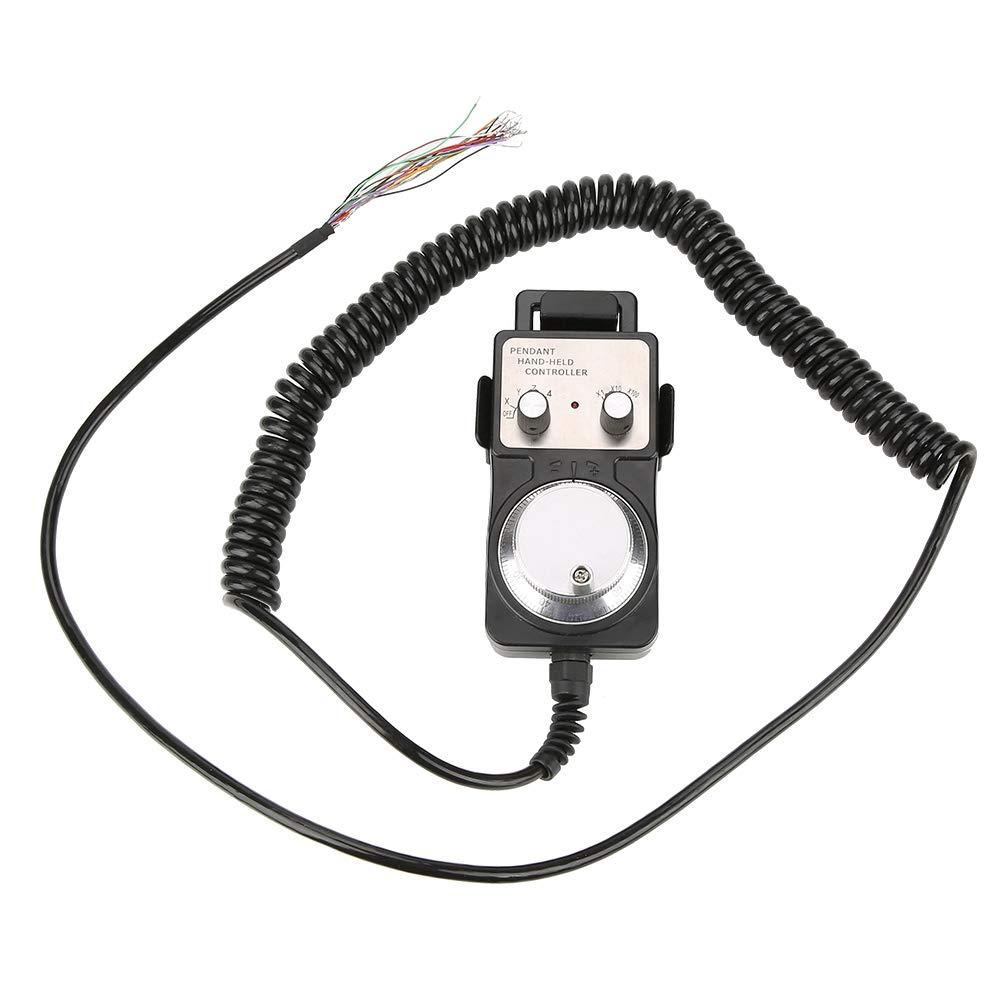 emergency stop switch wiring diagram amazon com 5v 4 axis electronic handwheel manual pulse generator  5v 4 axis electronic handwheel manual