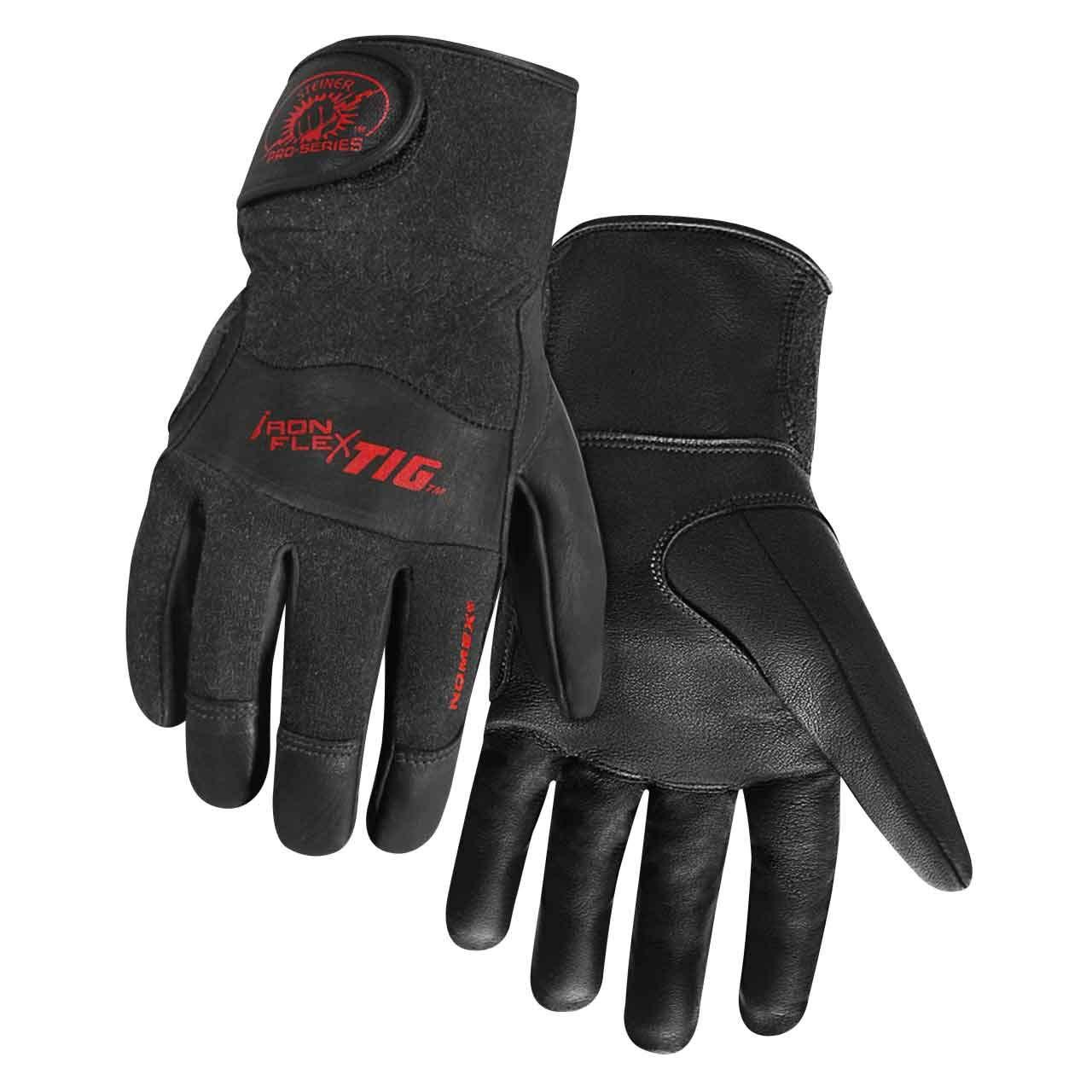 Steiner 0260-M SPS Ironflex TIG Gloves, Black Grain Kidskin Nomex Back Velcro Cuff, Medium by Steiner