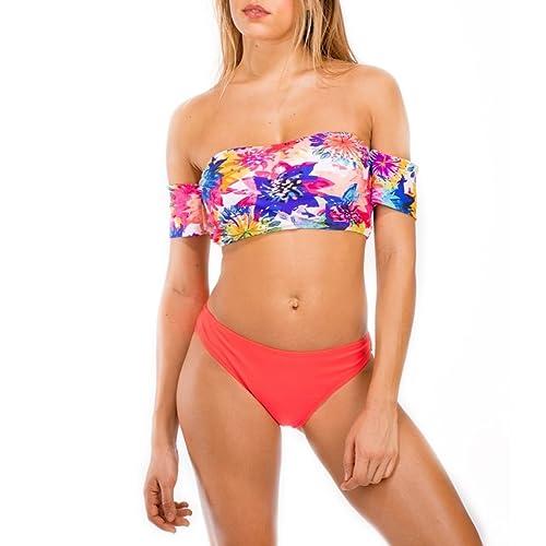 La Modeuse - Bikini - para mujer rojo Large