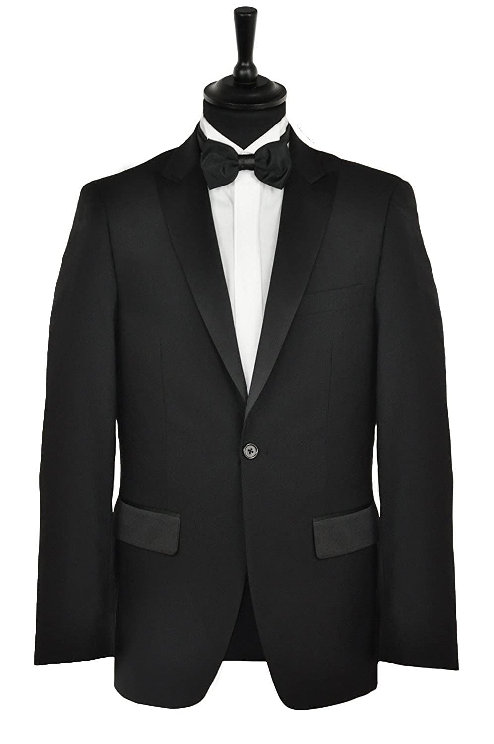 Mens Premium Black Tuxedo Dinner Suit Regular Length