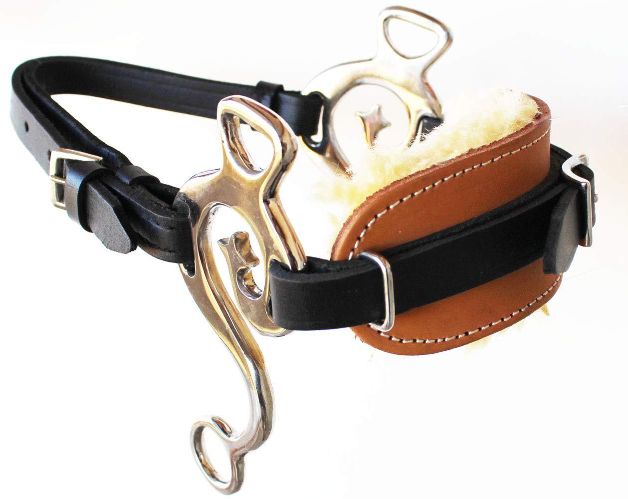 Challenger Tack Horse ウェスタン フリース パッド入り ツートンカラー レザー 真鍮 調節可能 ハカモア 35H55   B07H8NPZPM