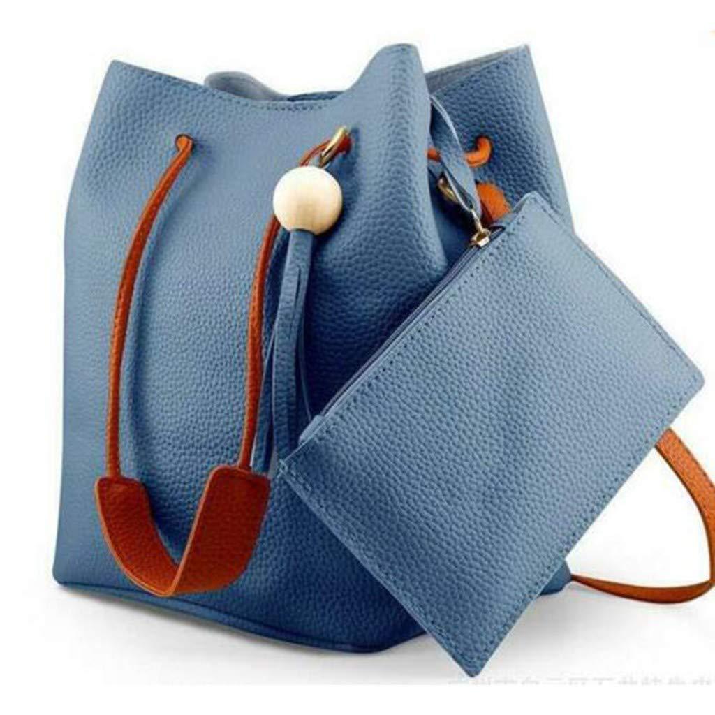 Vibola Bucket Bag for Women Large Messenger Bag Crossbody Purse and Shoulder Bag Tote Handbags Set W//Tassel Pendant Black