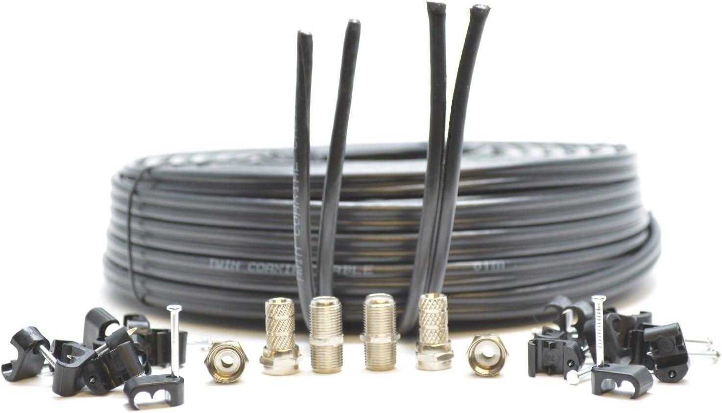 Generic - Cable coaxial para Escopeta TWI (Conectores F y F, 50 m ...