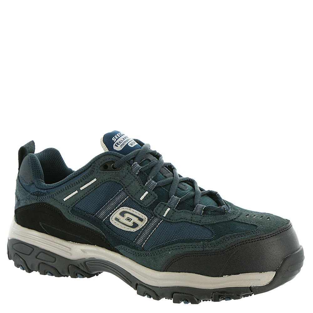 Skechers Work Relaxed Fit DLites SR Tolland Womens Steel Toe Sneakers Navy/Gray 9