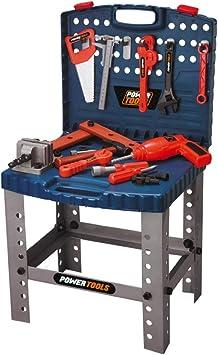 Trendario Werkzeugkoffer Fur Kinder Spiel Werkzeug Set Mit Bohrmaschine Hammer Werkbank Amazon De Spielzeug