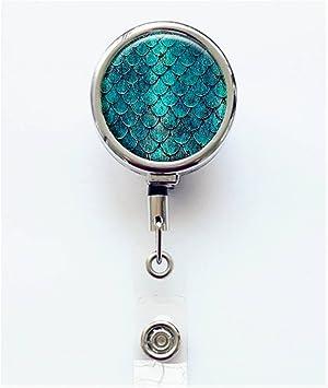 mermaid professionl badge reel gifts Mermaid tail badge reel-Ocean badge reel retractable badge reel nurse badge reel