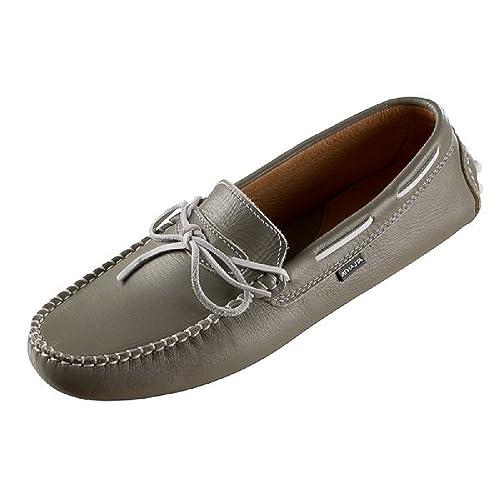 Atlanta - Mocasines de Piel para mujer Plateado plateado 40: Amazon.es: Zapatos y complementos