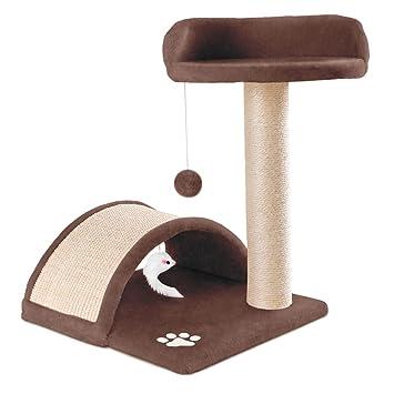 Mc Haus MAA0500M Árbol Rascador para Gatos con Plataforma y Bola de Juego 50cm de Altura: Amazon.es: Productos para mascotas