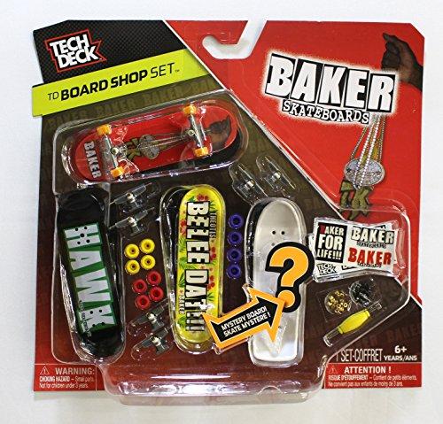 TECH DECK 96mm BOARD SHOP - 4 BAKER BOARDS - Includes Mystery Board - New (Tech Chocolate Deck)