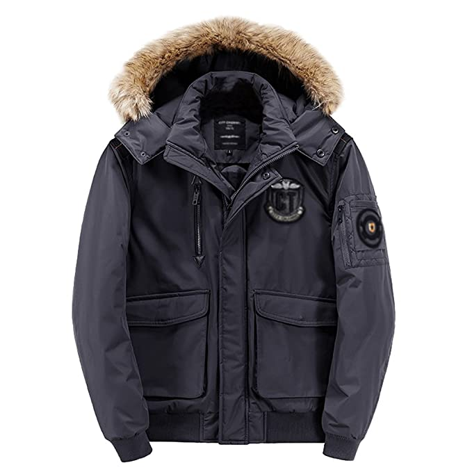 NiSeng Hombre Parka Militar Abrigo Capucha Pelo Chaqueta Jacket Invierno: Amazon.es: Ropa y accesorios