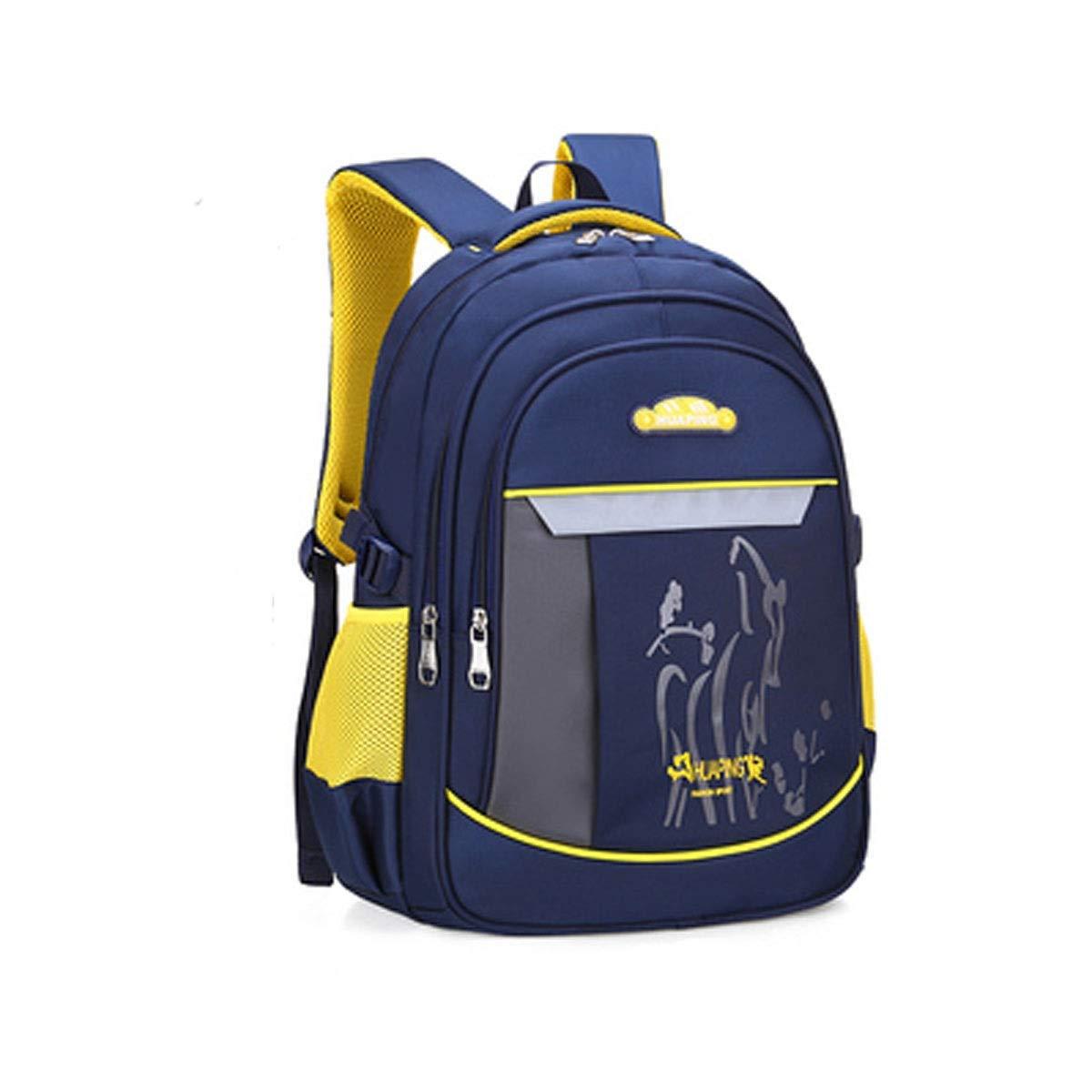 Aishanghuayi スクールバッグ 学生バッグ 耐摩耗性防水バックパック 1歳~9歳の学生に最適 463220cm マルチカラーオプション 美しい (カラー:ロイヤルブルー サイズ:463220cm) B07QNW1KJJ