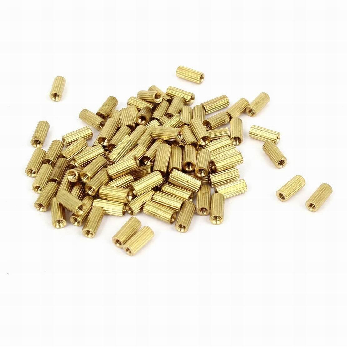 0.5 OD Female 1//4-20 Screw Size Steel Zinc Plated 3 Length, Lyn-Tron Pack of 5