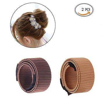 Sikenuo 2 Pc Haar Brötchen Maker Frauen Mädchen Perfekte Mode
