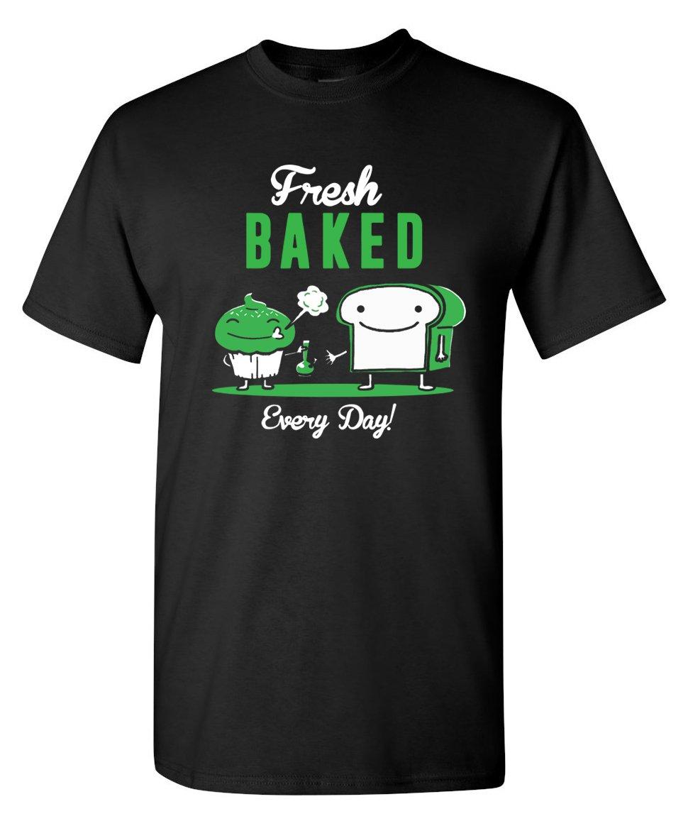 Strange Cargo Fresh Baked Funny Wake and Bake 420 Marijuana Weed Pot Stoner T-Shirt