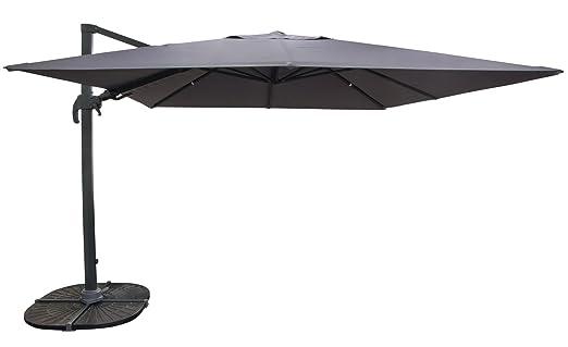 Amazon De Grosser Stabiler Pendelschirm Apelschirm Sonnenschirm 3 Meter
