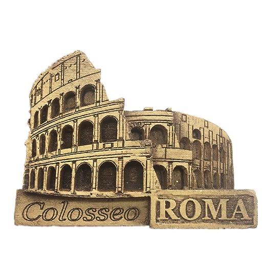 Weekinglo Souvenir Imán de Nevera Coliseo Roma Italia 3D Artesanía ...