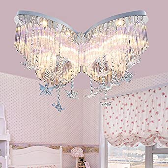 Attractive Lilamins Butterfly Crystal Girls Children Light Creative Led Lights For  Living Room,Bathroom,Bedroom