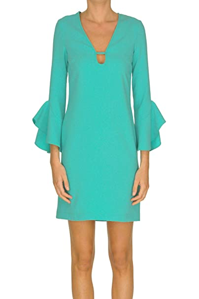 0304c3d88a Pinko Women's Mcglvs0000005103e Light Blue Polyester Dress: Amazon.co.uk:  Clothing