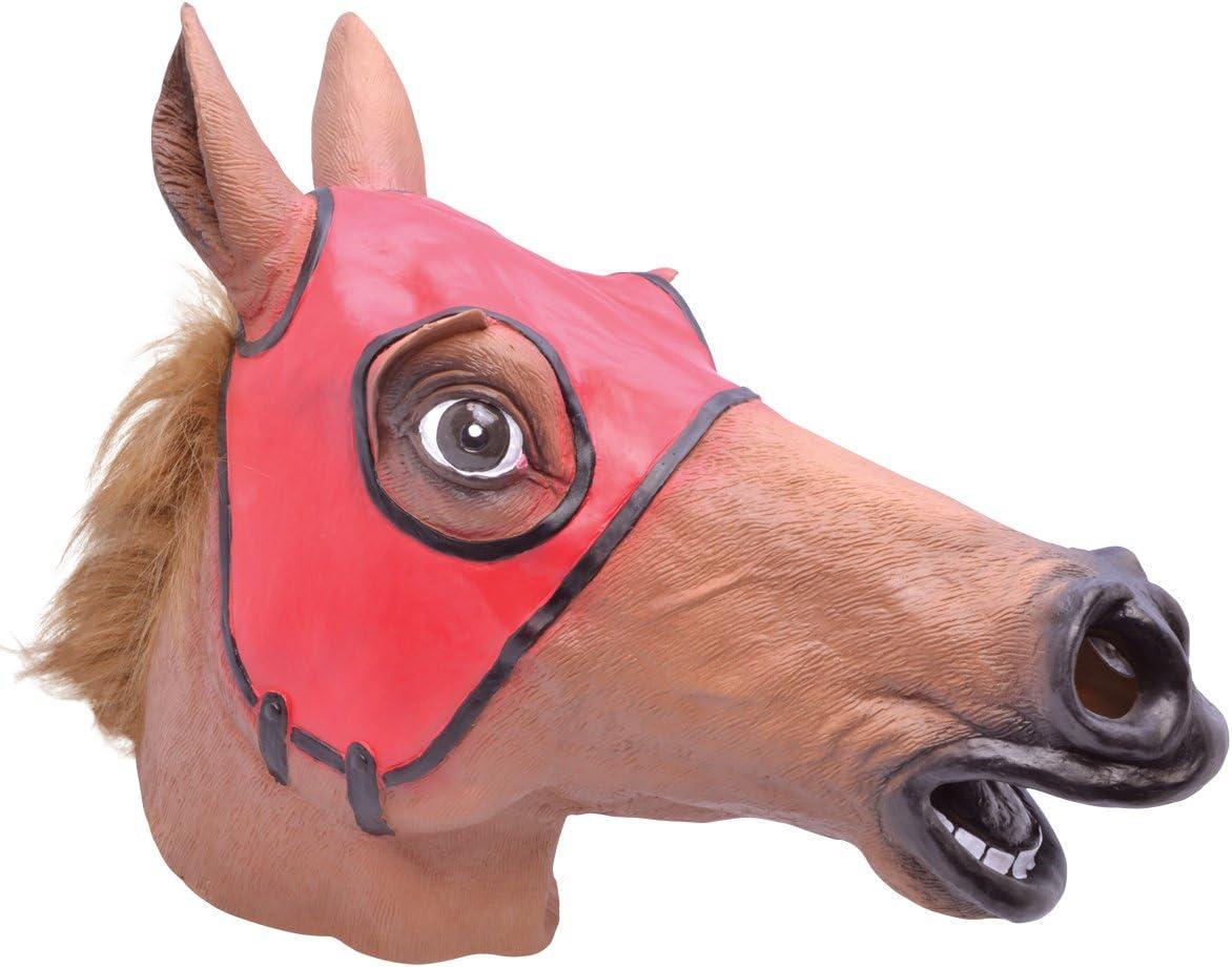 Bristol Novelty BM464 - Máscara de Caballo de Carreras (Talla única)