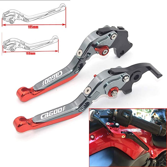 CNC allungabile pieghevole regolazione freno leve frizione moto per Honda CB600/F Hornet 2007/2008/2009/2010/2011/2012/2013